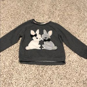 Girls bunny sweater
